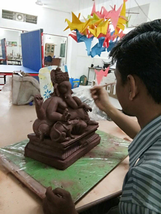 Ganesha Idol making 2017-1818-5